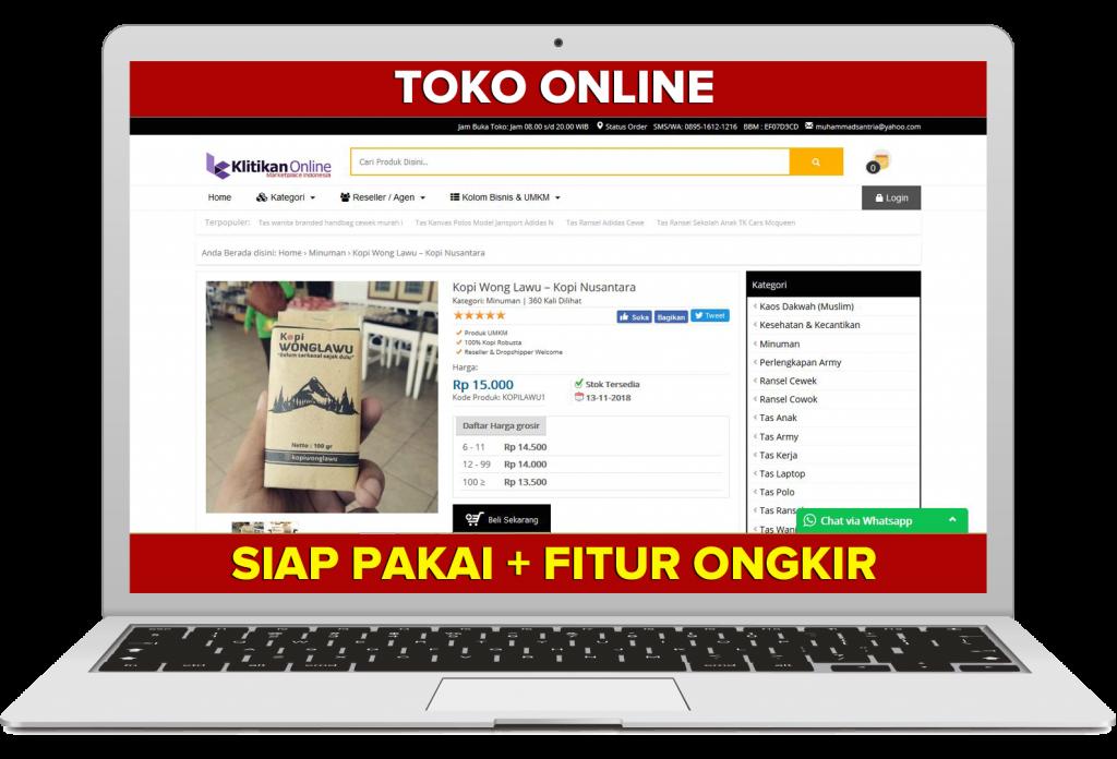 jasa pembuatan website toko online lengkap
